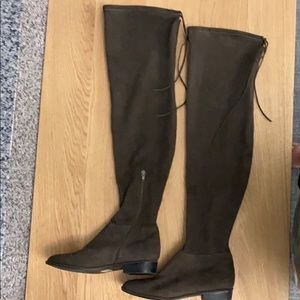 Call it Spring past knee brown boots. Size 8 NWT